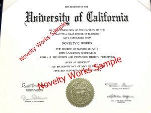 Fake UC Diploma